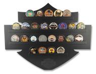 Harley-Davidson Bar & Shield Wall Coin Display, Holds 25 Coins, Black 8005139 - Wisconsin Harley-Davidson