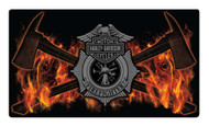 Harley-Davidson Embossed Firefighter Axes Tin Sign, 16.5 x 9.5 inches 2011211 - Wisconsin Harley-Davidson