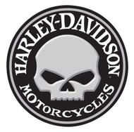 Harley-Davidson Embossed Willie G Skull Button Round Tin Sign, 14 inch 2011021 - Wisconsin Harley-Davidson
