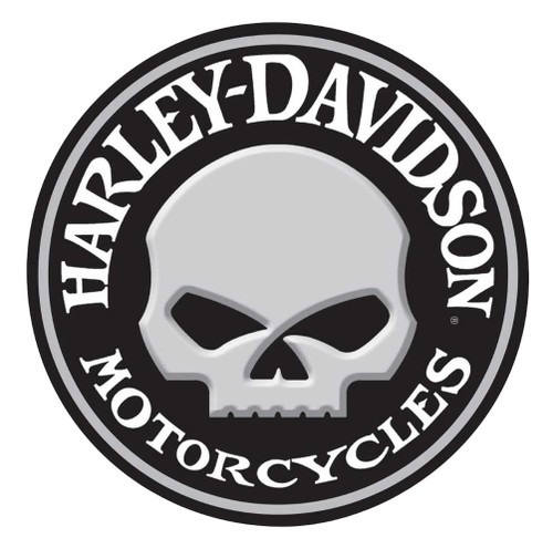 Harley-Davidson Embossed Willie G Skull Button Round Tin Sign, 14 inch 2011021 - Wisconsin Harley-Davidson