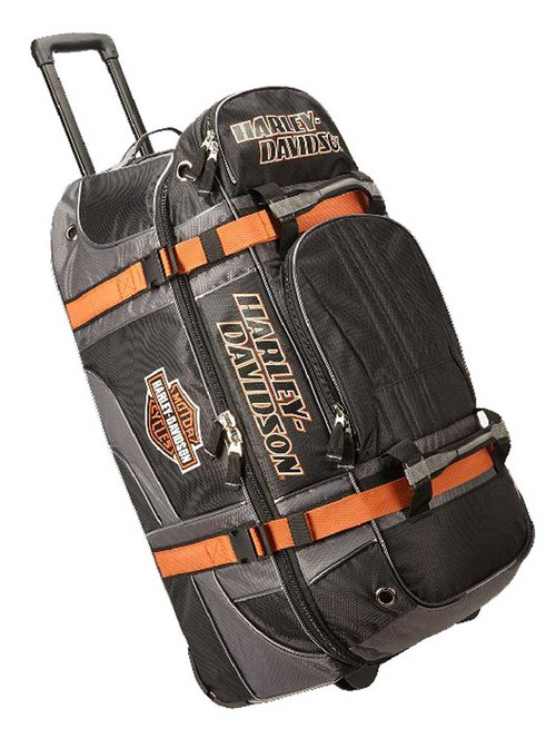 "Harley-Davidson Bar & Shield Logo 33"" XLG Wheeling Duffel Bag 99410-BLACK - Wisconsin Harley-Davidson"