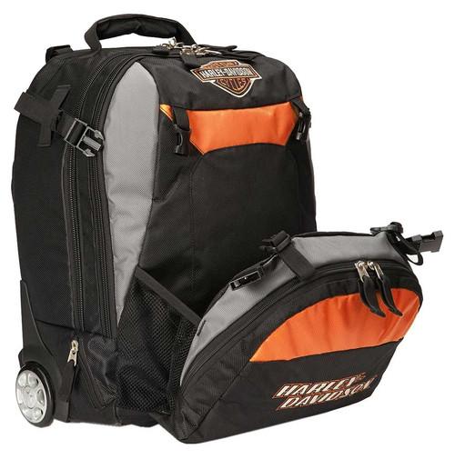 Harley-Davidson Bar & Shield Logo Wheeling Backpack Carry-On Bag 99411-BLACK - Wisconsin Harley-Davidson