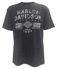 Harley-Davidson Men's Distressed Power Short Sleeve Stripe T-Shirt 5J32-HB5X - Wisconsin Harley-Davidson