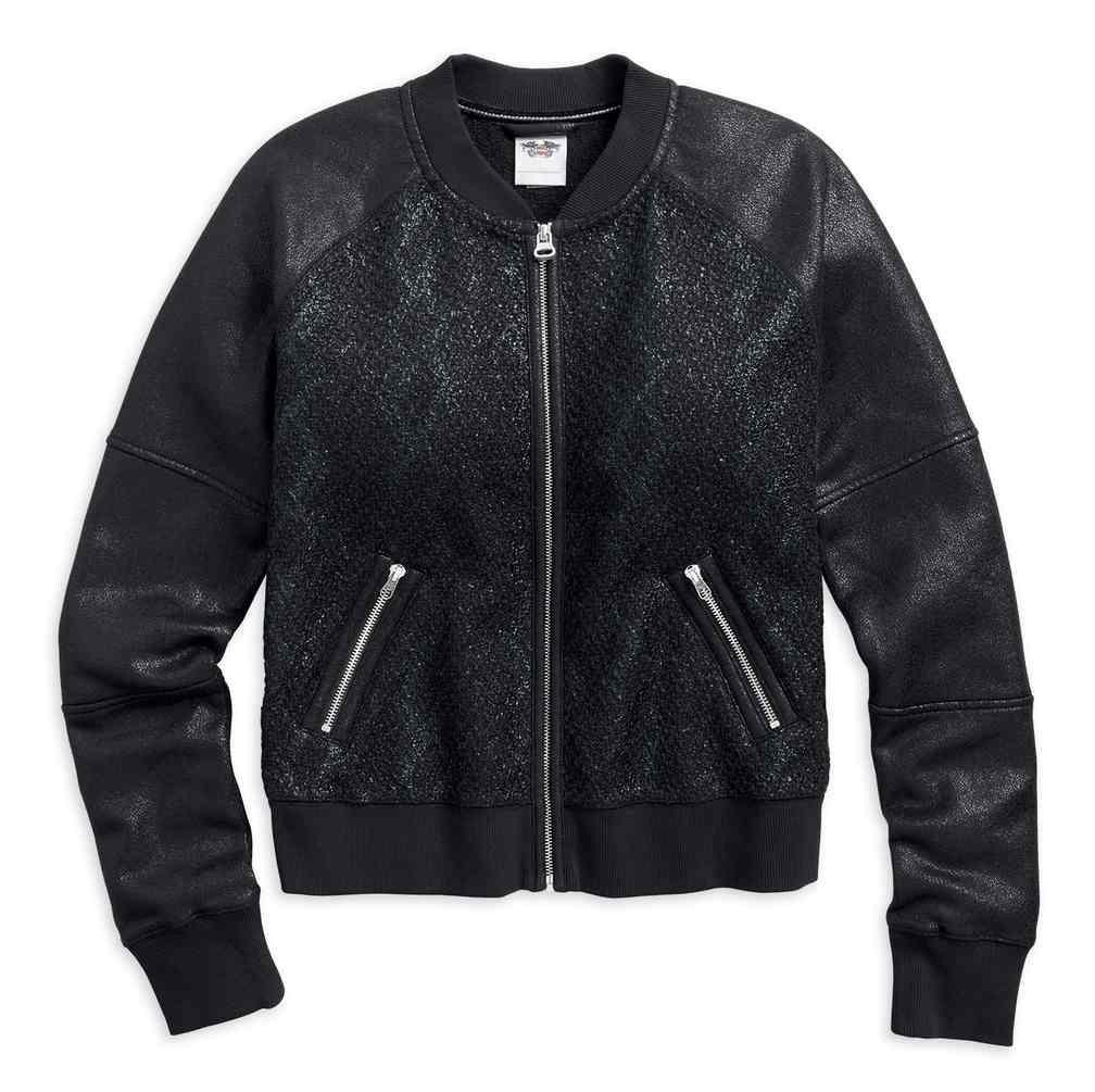 Harley-Davidson® Women's Coated Foil Bomber Casual Jacket ...