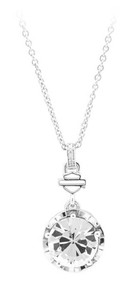 Harley-Davidson Women's Big Bling Clear Crystal Necklace, Silver HDN0354-18 - Wisconsin Harley-Davidson