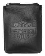 Harley-Davidson Women's Embossed Bar & Shield Belt Bag / Crossbody ZWL4717-BLACK - Wisconsin Harley-Davidson