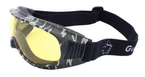 Guard-Dogs Unisex Commander I Yellow Lens FogStopper Goggles, Camo 050-13-16 - Wisconsin Harley-Davidson