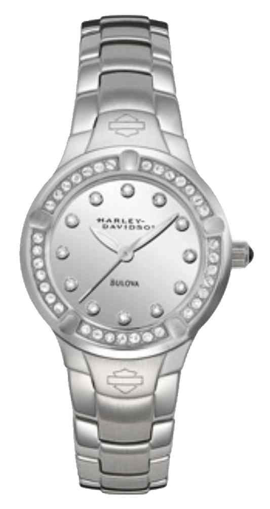 a78c1eaf3aba4 Harley-Davidson Women's Crystal Embellished Stainless Steel Watch, Silver  76L033 - Wisconsin Harley-