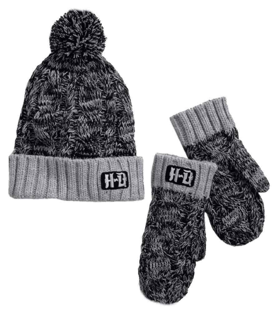 5d33af1b908 Harley-Davidson® Women s Chunky Marl Knit Hat   Mittens Set
