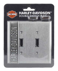Harley-Davidson Heavy-Duty H-D Double Switch Plate, Hardware Included HDL-10170 - Wisconsin Harley-Davidson