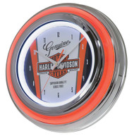Harley-Davidson Nostalgic Bar & Shield Double LED Clock, 14 inch HDL-16635 - Wisconsin Harley-Davidson