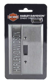 Harley-Davidson Heavy-Duty H-D Single Switch Plate, Hardware Included HDL-10169 - Wisconsin Harley-Davidson