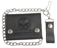 Harley-Davidson Men's Emboss Willie G Skull Medium Trucker Wallet XML4721-BLACK - Wisconsin Harley-Davidson