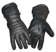 Redline Men's Winter Gauntlet Thinsulate Leather Gloves w/ Rain Cover G-051 - Wisconsin Harley-Davidson