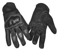 Redline Men's Vented Sports Full-Finger Gloves w/ Hard Kevlar, Black G-068 - Wisconsin Harley-Davidson