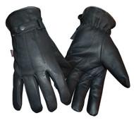 Redline Men's Soft Fleece Gator Lining Full-Finger Leather Gloves, Black G-052GS - Wisconsin Harley-Davidson