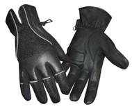 Redline Men's Vented Full-Finger Anti-Vibration Leather Gloves, Black G-047 - Wisconsin Harley-Davidson