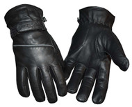 Redline Men's Reflective Piping Full-Finger Thinsulate Leather Gloves G-048 - Wisconsin Harley-Davidson