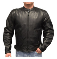 Redline Men's Cowhide Leather European Motorcycle Jacket w/ Armor, Black M-250 - Wisconsin Harley-Davidson