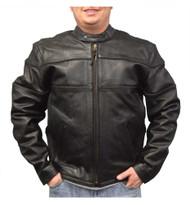 Redline Men's Cowhide Leather Motorcycle Jacket w/ Thinsulate Liner, Black M-100 - Wisconsin Harley-Davidson