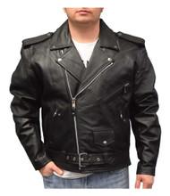 Redline Men's Mid-Weight Buffalo Lace Leather Motorcycle Jacket, Black M-700 - Wisconsin Harley-Davidson