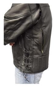 Redline Men's Cow Leather Touring Side-Lace Motorcycle Jacket, Black M-400 - Wisconsin Harley-Davidson