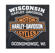 Harley-Davidson Men's Bar & Shield Pullover Fleece Hooded Sweatshirt, Black - Wisconsin Harley-Davidson