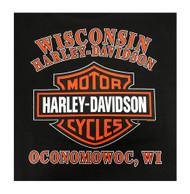Harley-Davidson Men's Lost Pistons Bar & Shield Hooded Sweatshirt 5M37-HB49 - Wisconsin Harley-Davidson