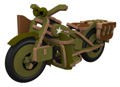 Harley-Davidson Boy's Buildex Vintage Armed Forces Bike Construction Kit 20376 - Wisconsin Harley-Davidson