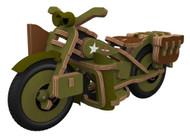 Harley-Davidson Boy's Buildex Vintage Armed Forces Bike Construction Kit 20376 - Wisconsin Harley-Davidson
