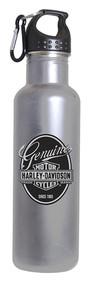 Harley-Davidson Genuine Bar & Shield Aluminum Water Bottle, Silver HD-GEN-1766 - Wisconsin Harley-Davidson