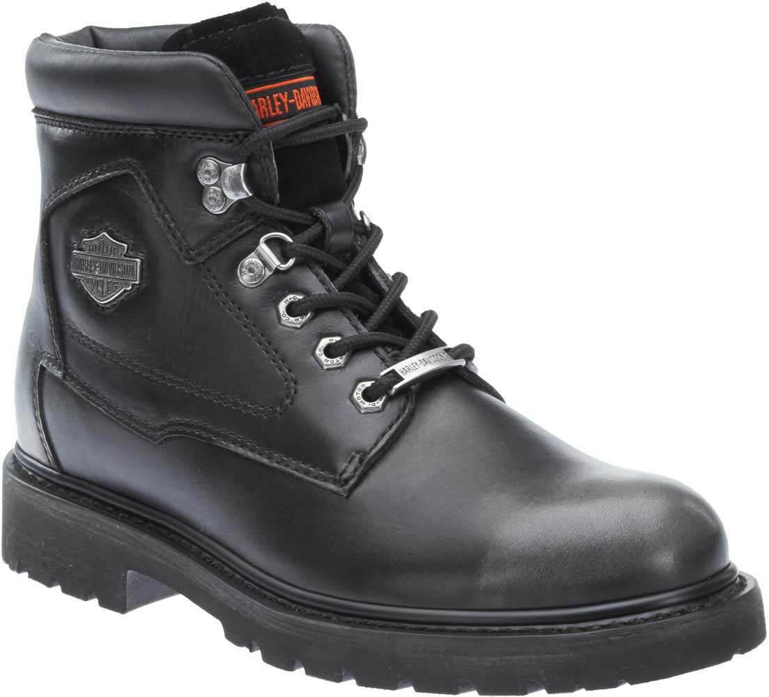d84f4cec41f3 Harley-Davidson Men s Bayport Black-Silver Motorcycle Boots D93427 -  Largest Selection of Harley. See 3 more pictures