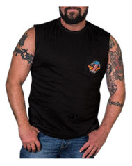 Harley-Davidson Men's Legendary Strength Chest Pocket Sleeveless Tee, Black - Wisconsin Harley-Davidson