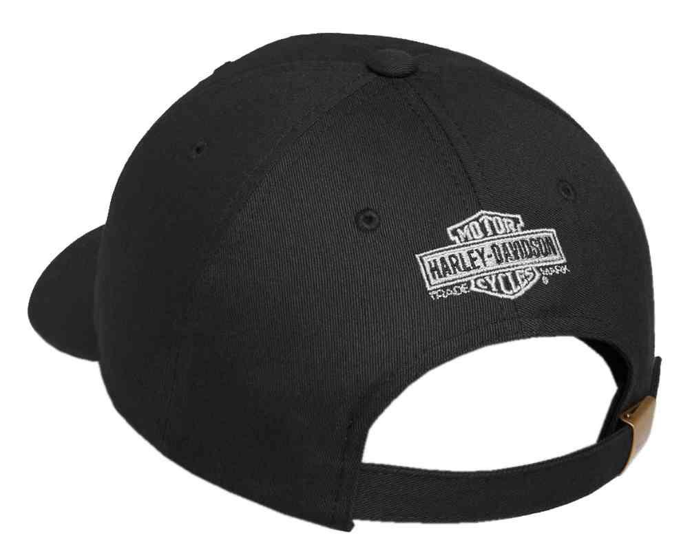 50d706a3ff34f Harley-Davidson Men s Willie G Skull   Shield Patch Baseball Cap 99492-17VM  -