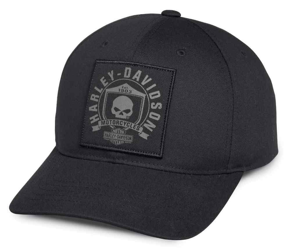 5a9487a44 Harley-Davidson® Men's Willie G Skull & Shield Patch Baseball Cap 99492-17VM