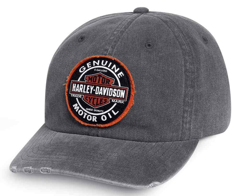 e8358069af1 Harley-Davidson® Men s Frayed Genuine Oil Patch Baseball Cap