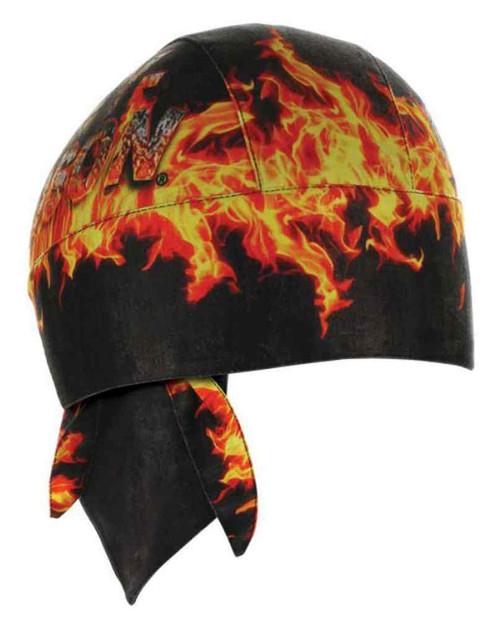 Harley-Davidson Men's H-D Flames Combustion Headwrap, Black & Orange HW20964 - Wisconsin Harley-Davidson