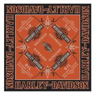 Harley-Davidson Men's Genuine Oil Bar & Shield Bandana, 24 x 24 inch BA21264 - Wisconsin Harley-Davidson
