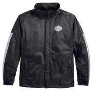 Harley-Davidson Men's Waterproof & Breathable Rain Jacket, Black 98191-17VM - Wisconsin Harley-Davidson