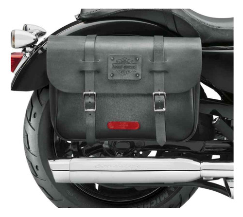 Harley-Davidson Express Rider Large Capacity Leather Saddlebags, Black 90201325 - Wisconsin Harley-Davidson