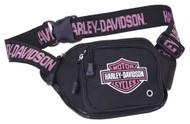 Harley-Davidson Pink Bar & Shield Logo Belt Bag, Water-Resistant 99426-PINK - Wisconsin Harley-Davidson