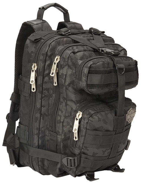 "Harley-Davidson ""Molle"" Night-Vision Backpack, Gray & Black 99401-NIGHT - Wisconsin Harley-Davidson"