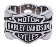 Harley-Davidson Men's Bar & Shield Stainless Steel Chain H-D Ring HSR0029 - Wisconsin Harley-Davidson