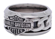 Harley-Davidson Men's Stainless Steel Chain Bar & Shield H-D Ring HSR0031 - Wisconsin Harley-Davidson