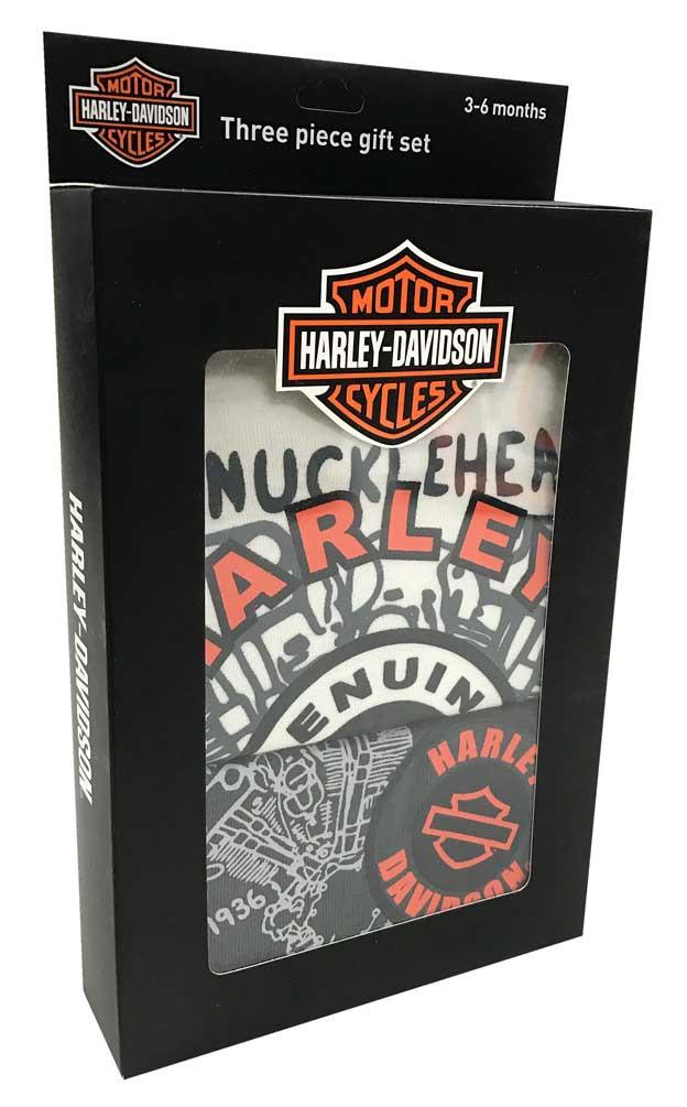 9d4524860 Harley-Davidson® Baby Boys' H-D 3 Piece Gift Box Set, Cream 2551747 ...