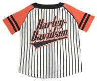 Harley-Davidson Big Boys' Striped B&S Raglan Baseball Jersey, White 1091715 - Wisconsin Harley-Davidson