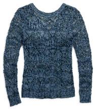 Harley-Davidson Women's Crossback Open Knit Long Sleeve Sweater, Blue 96082-17VW - Wisconsin Harley-Davidson