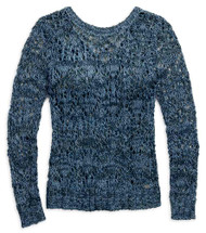Harley-Davidson Women's Crossback Open Knit Long Sleeve Sweater, Blue 96082-17VW - Wisconsin Harley-Davidson