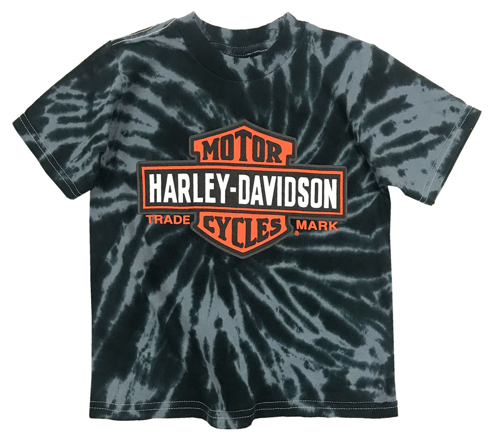 76ba381d Harley-Davidson® Big Boys' Bar & Shield Swirl Tie-Die T-Shirt, Black ...