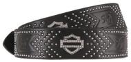 Harley-Davidson Women's Native Star Studded Genuine Leather Belt HDWBT11250-BLK - Wisconsin Harley-Davidson